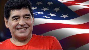Diego Maradona puede entrar a Estados Unidos