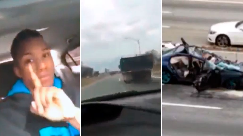 Un conductor transmitió por Facebook su propio accidente.