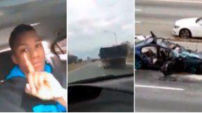 Un conductor transmitió por Facebook su propio accidente.