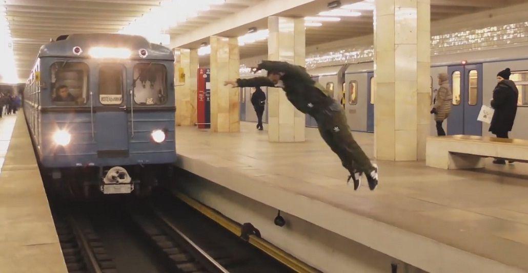 El falso salto que se volvió viral en Youtube.
