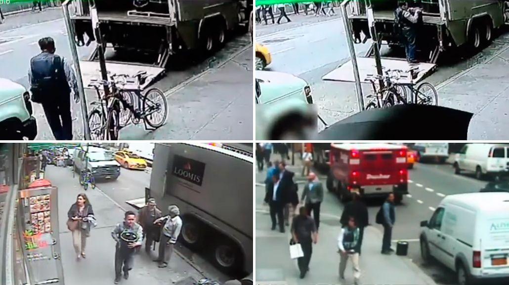 VIDEO: Se robó un balde con oro valuado en US$1.6 millones a plena luz del día