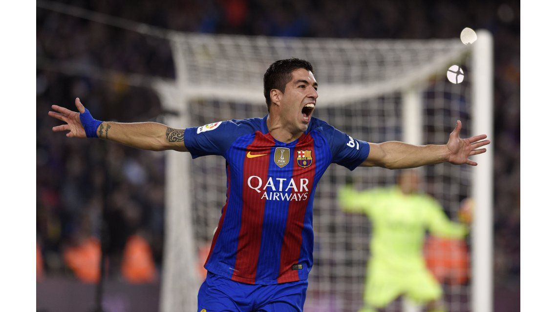 Suárez festeja su gol ante Real Madrid