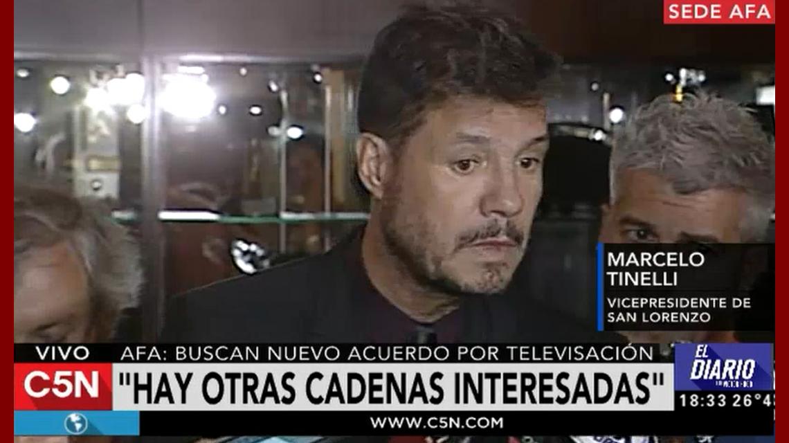 Tinelli reunió con Turner y Fox por los derechos del fútbol argentino