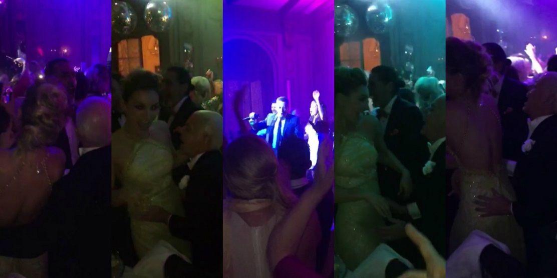 El juez Oyarbide y Sofía Macaggi bailando en la boda de Natalia Fassi