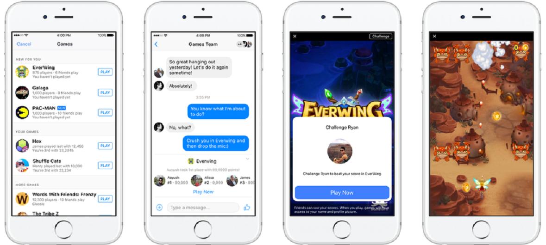 Se pueden jugar videojuegos en Messenger gracias a Instant Games