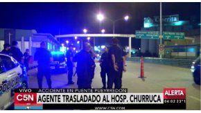 Atropelló a un policía en Puente Pueyrredón