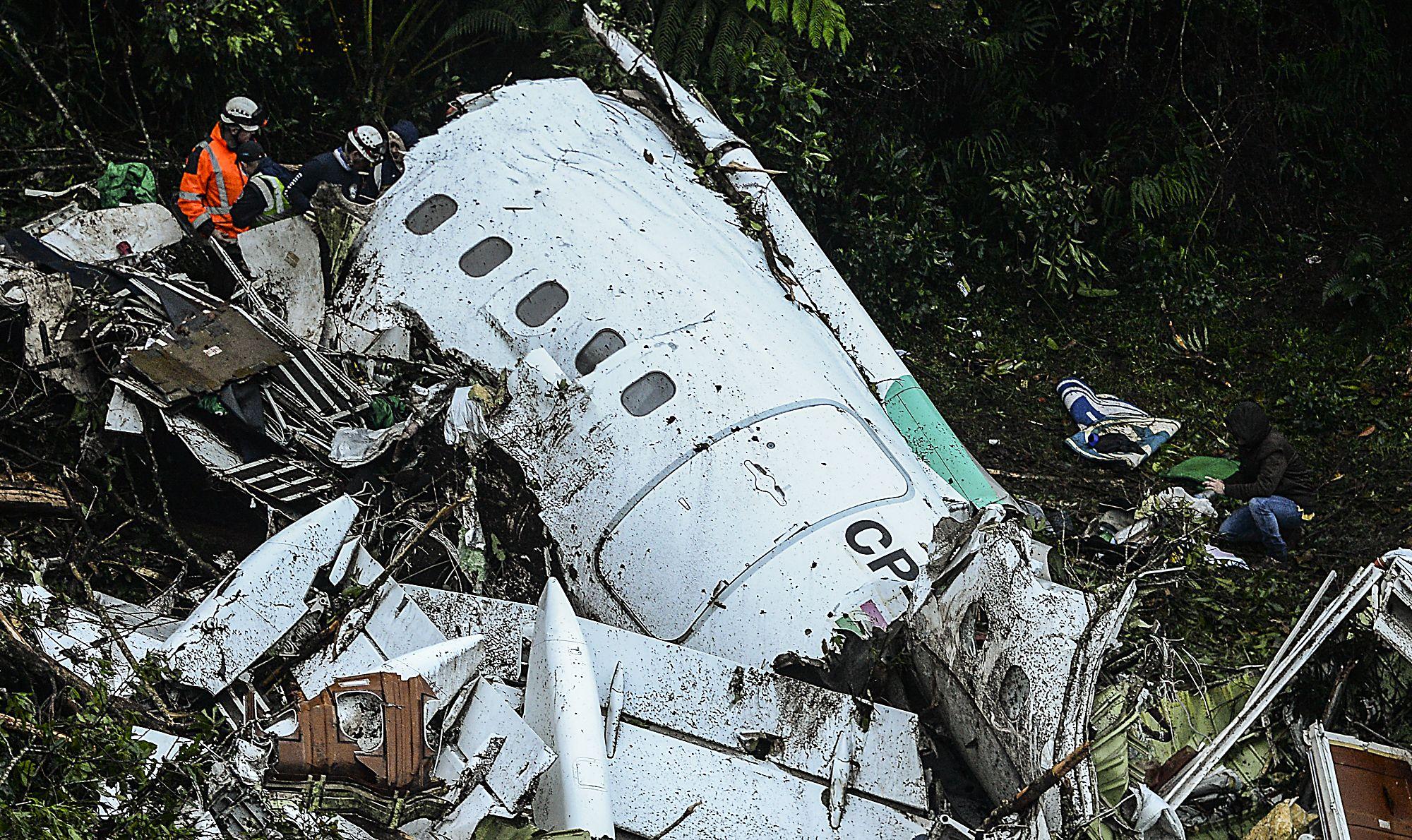 El avión de Lamia