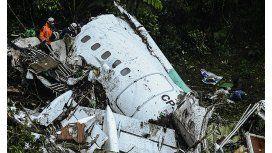 El avión de Lamia, destrozado