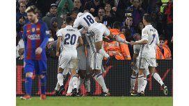 Real Madrid celebra el empate ante Barcelona