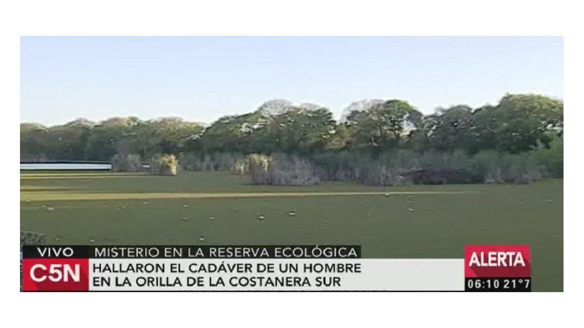 Un cadáver fue hallado en la Reserva Ecológica.