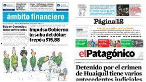 Tapas de diarios del 30 de noviembre de 2016