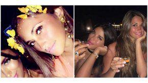 Antonella Roccuzzo y su amiga Daniella Semaan.