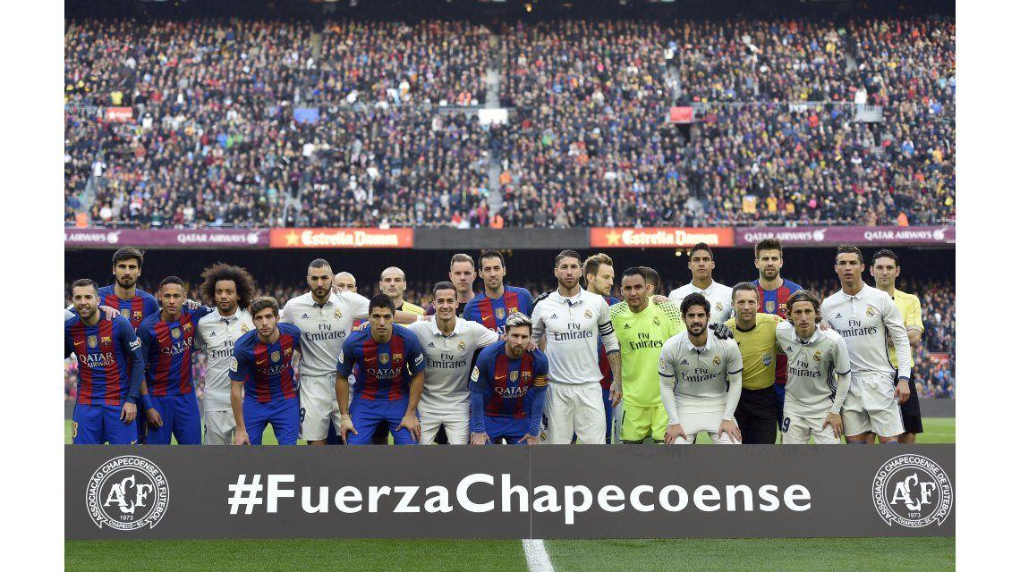 El recuerdo al Chapecoense en el clásico español