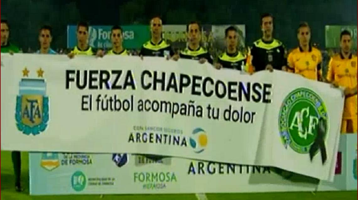 El homenaje a Chapecoense en la Copa Argentina