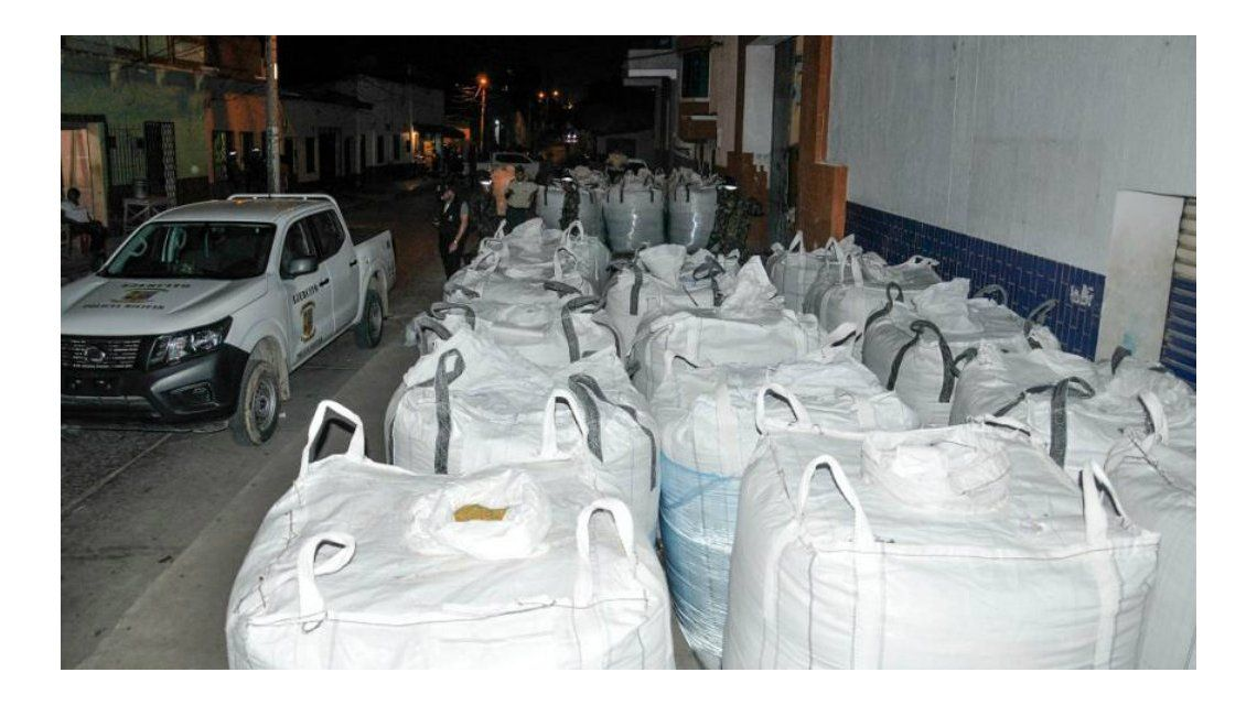 Incautaron dos toneladas de cocaína en Barranquilla