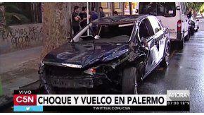 Así quedó el auto del joven que manejaba borracho
