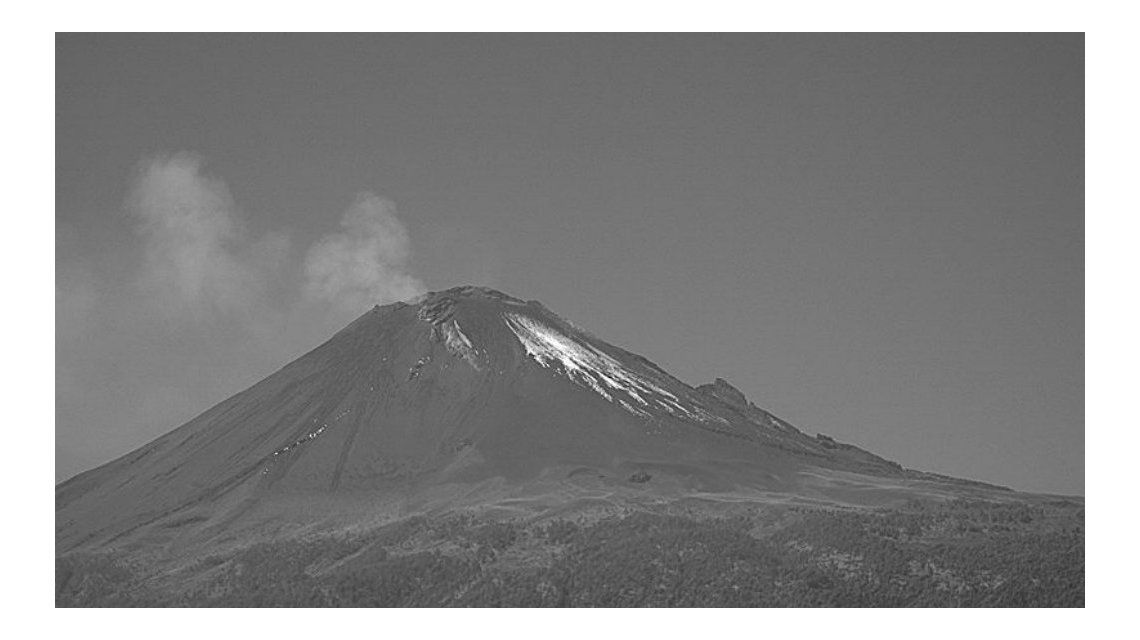 El Popocatépetl lanzó cenizas