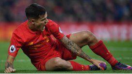 La dura lesión del brasileño Coutinho