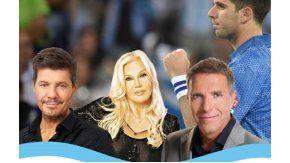 Los famosos celebraron el triunfo de Argentina en la Copa Davis.