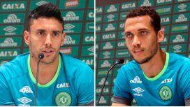 Alan Ruschel yHélio Hermito Zampier Neto, son dos de los jugadores que sobrevivieron