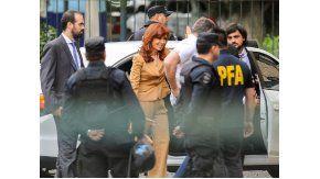 La ex presidenta Cristina Kirchner llegó a Tribunales de Comodoro Py
