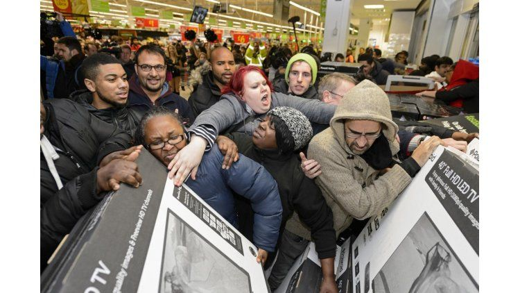 Postal típica del Black Friday en Estados Unidos