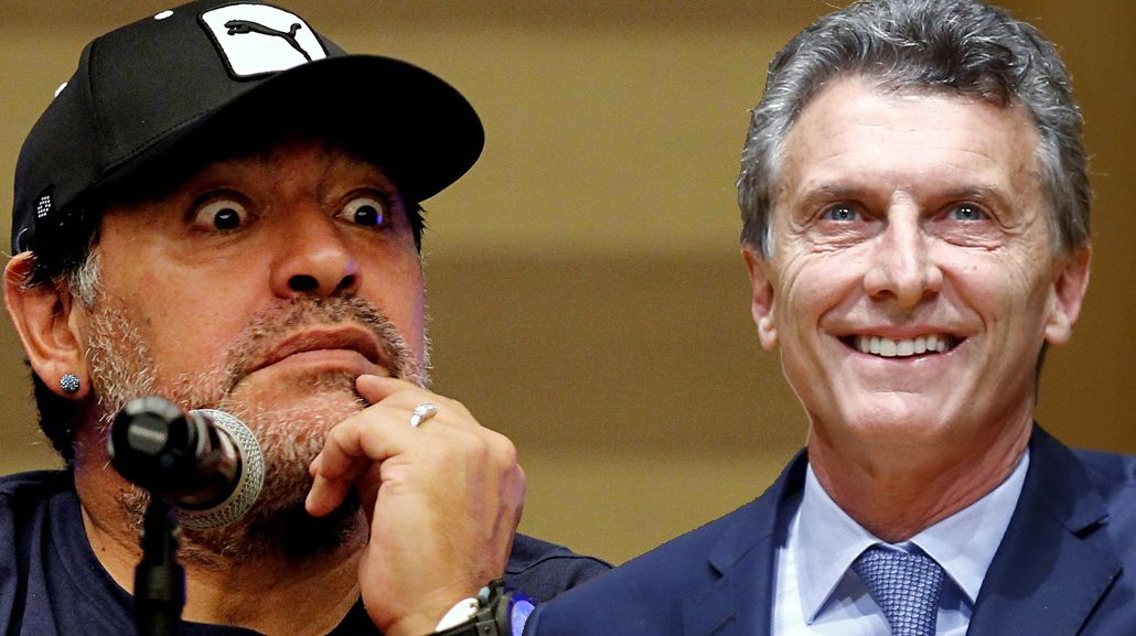 Maradona deseó que Macri corte el pan dulce como presidente