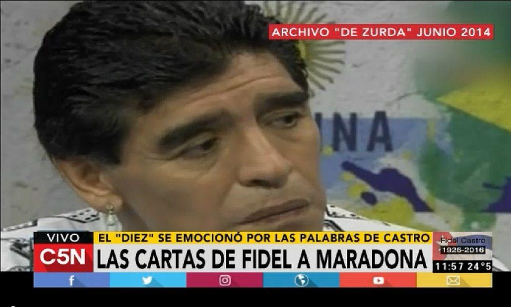 Las cartas de Fidel a Maradona