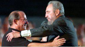 Silvio Rodriguez y Fidel Castro