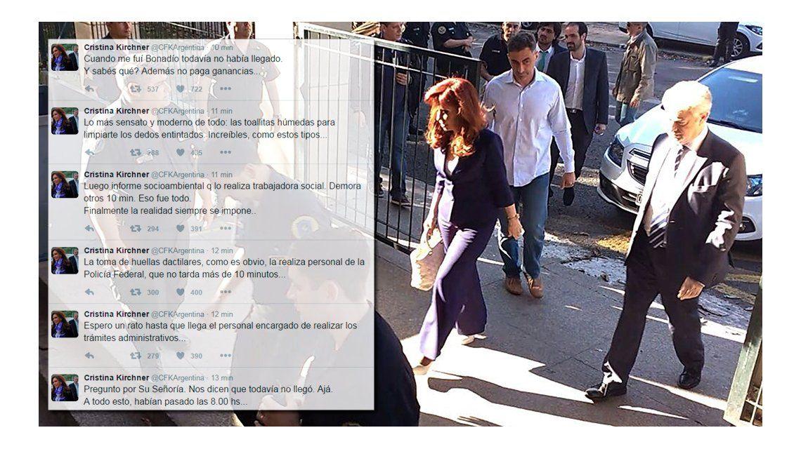 Cristina criticó el operativo en Comodoro Py y marcó la ausencia de ...