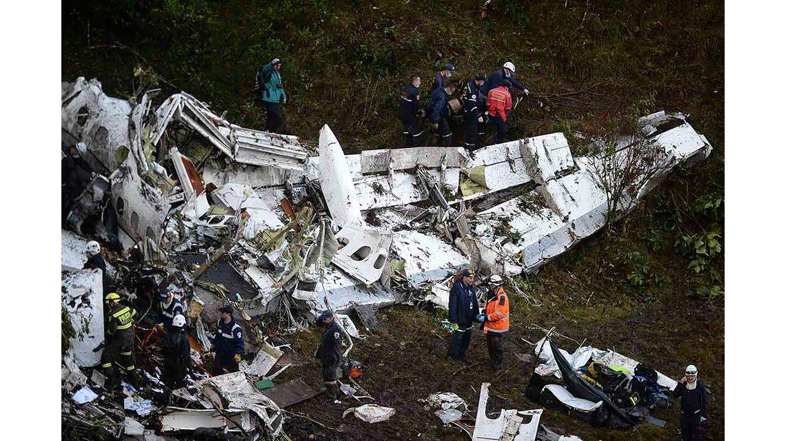 Así quedó el avión de la empresa Lamia