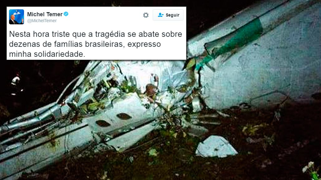 Brasil decretó tres días de luto por el accidente aéreo de Chapecoense