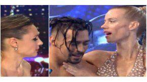 Nicole Neumann se animó a bailar el aquadance en el duelo.