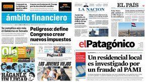 Tapas de diarios del 29 de noviembre de 2016