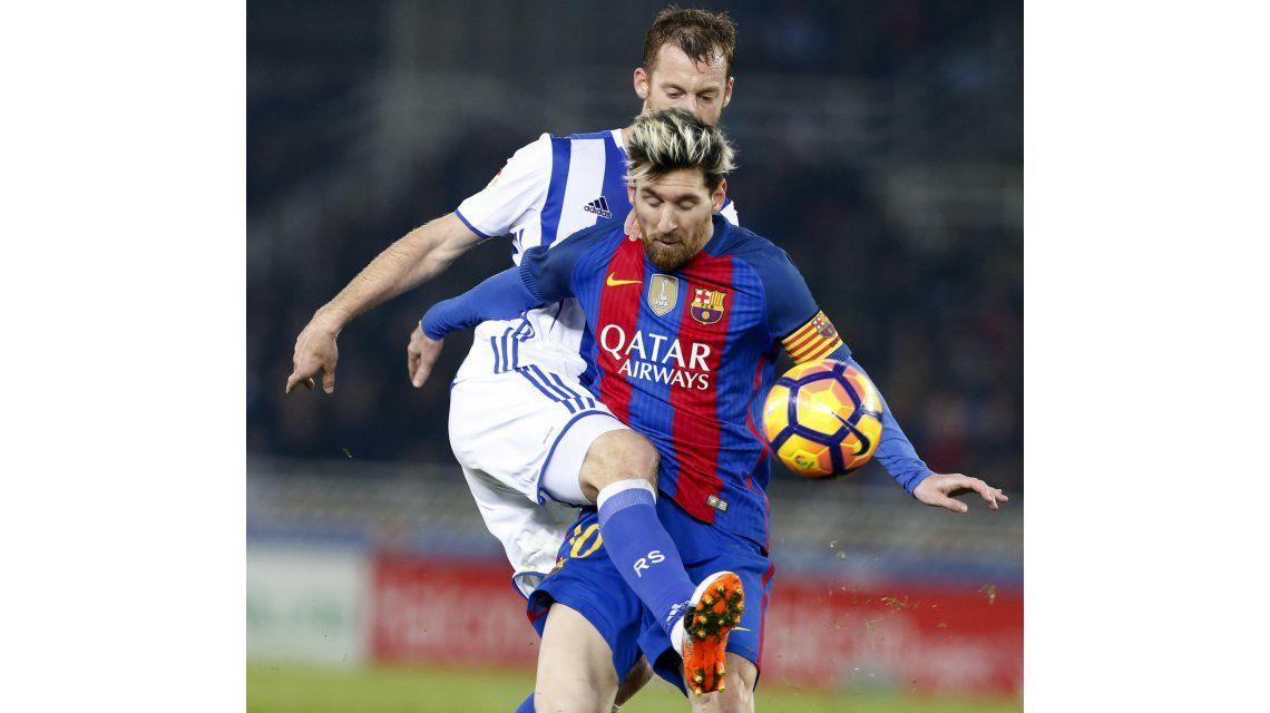 Lionel Messi marcó el único gol del Barcelona