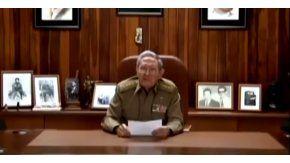 Raúl Castro anunció la muerte de Fidel