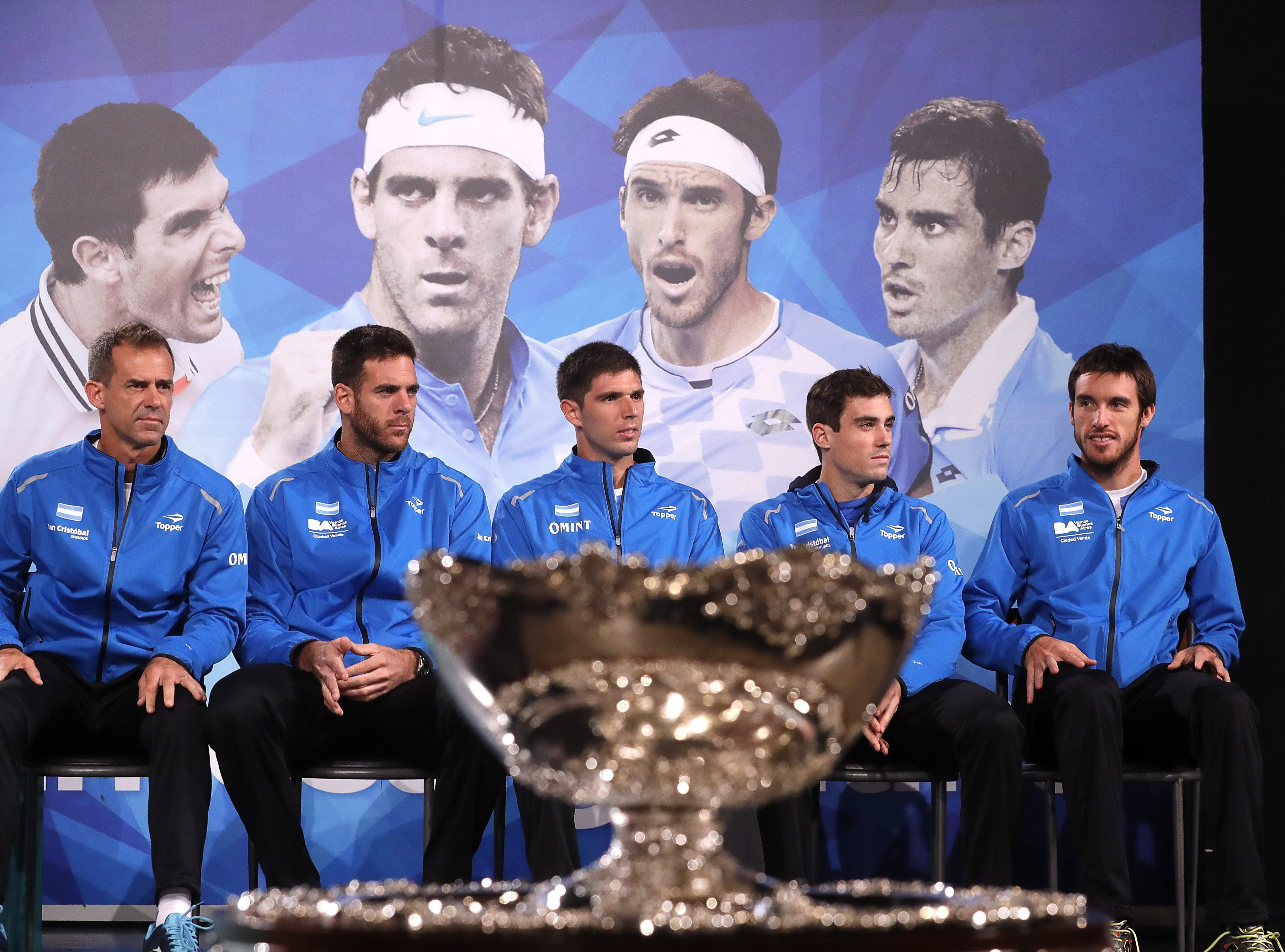Los miembros del equipo argentino de Copa Davis