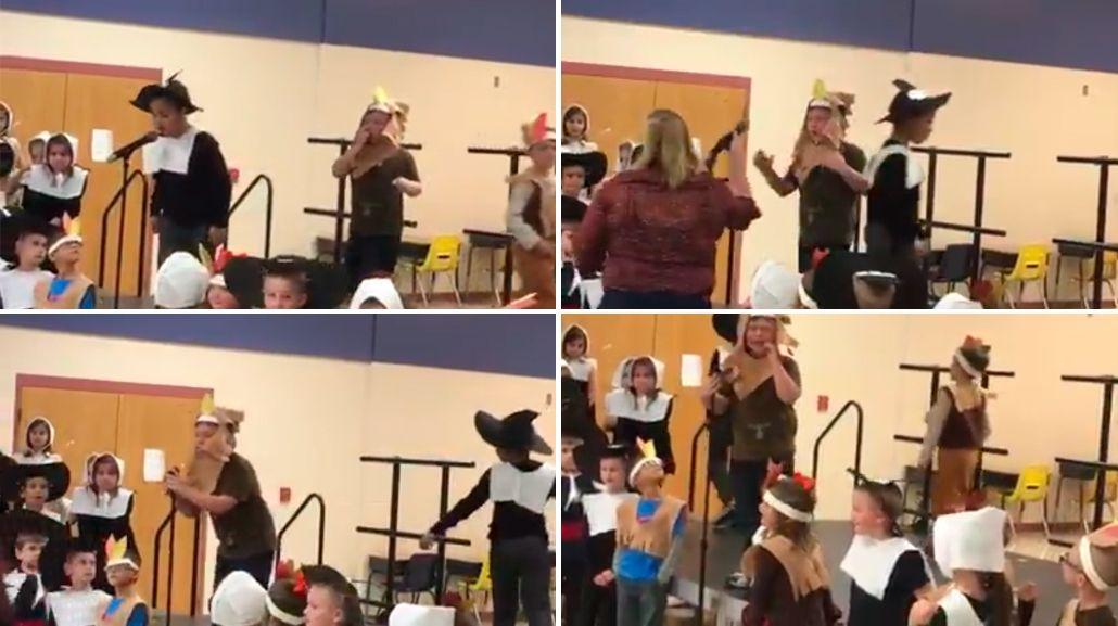 Una maestra humilló a uno de sus alumnos durante una actuación.