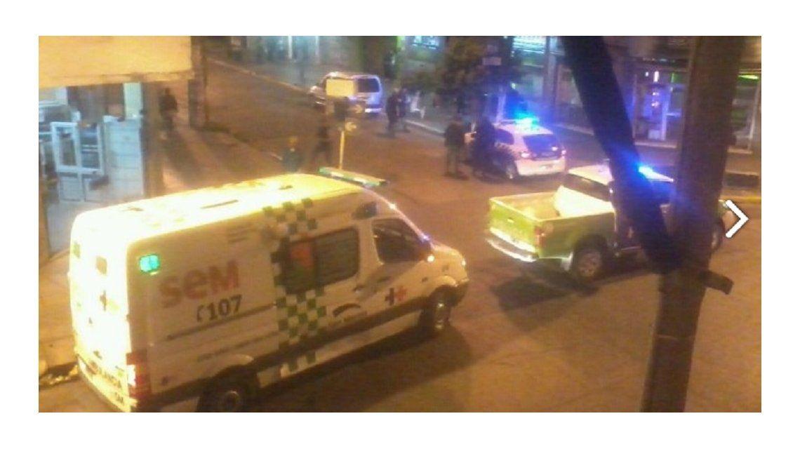 Ambulancias y policía actuaron en el hecho