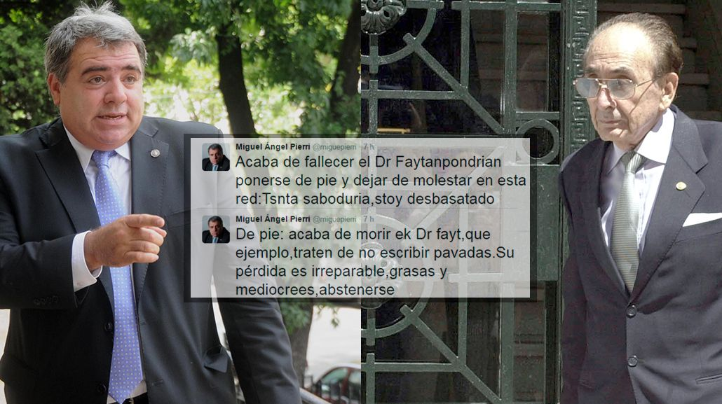 Furor en Twitter por el fallido homenaje de Pierri a Fayt.