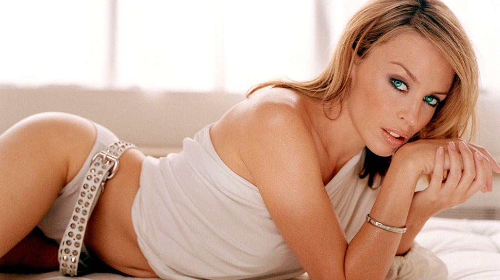 Kylie Minogue con maquillaje