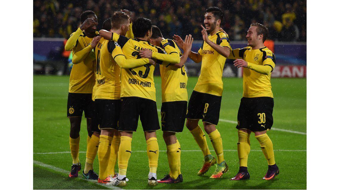 El festejo de los jugadores del Borussia Dortmund