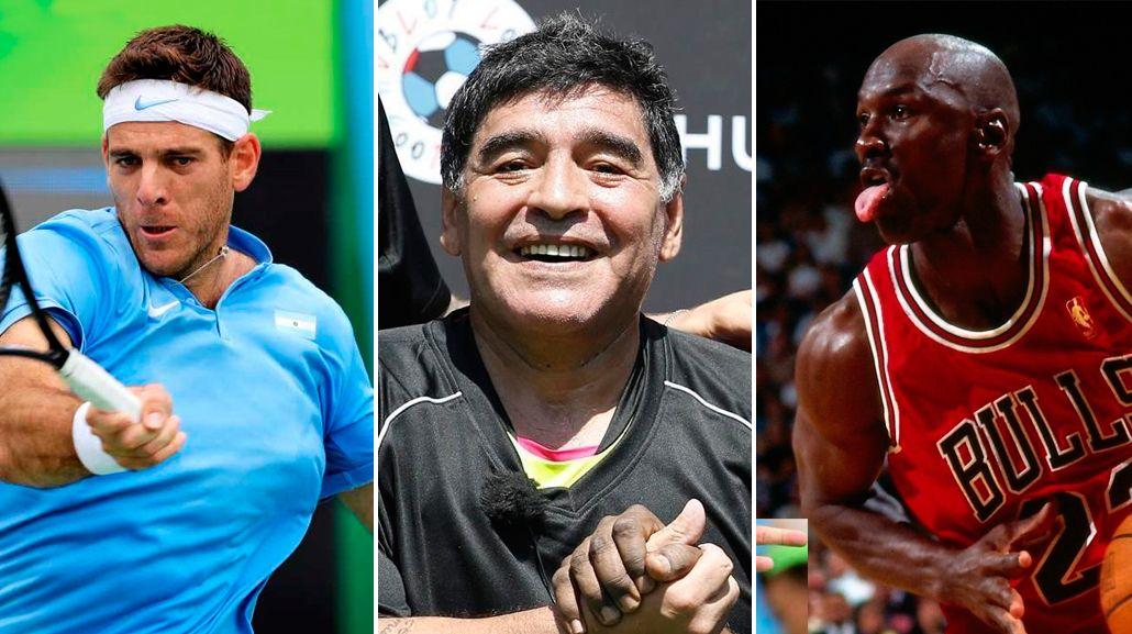 A minutos de la final de la Copa Davis, Maradona pidió que Del Potro sea como Jordan