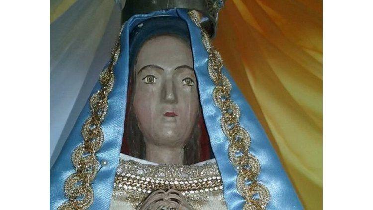Aseguran que vieron llorar a una Virgen en Catamarca.