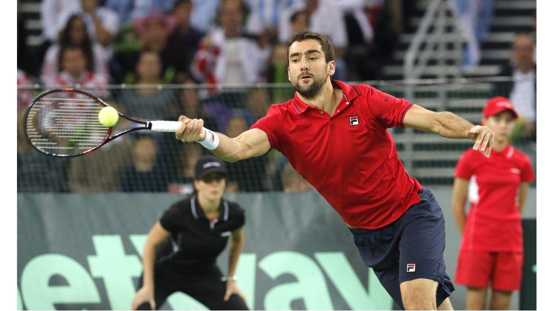 El croata estuvo muy fino en el tie break del primer set