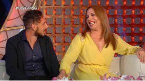 Lizy Tagliani y su novio, en lo de Susana Giménez.