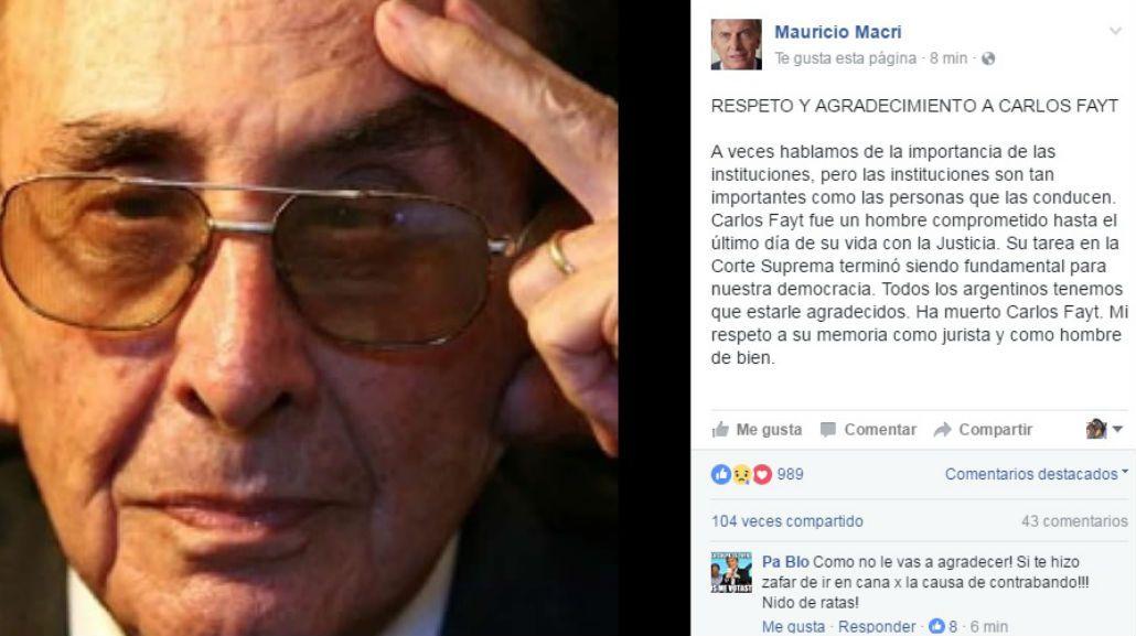Carlos Fayt fue un hombre comprometido hasta el último día de su vida con la Justicia
