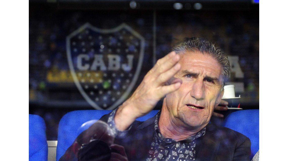 Bauza estuvo en la Bombonera para ver el partido entre Boca y Central.