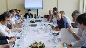 Macri, en una reunión con sus ministros