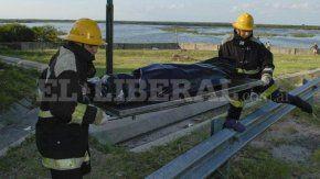 El cuerpo sin vida de Juan Jiménez es retirado del dique Los Quiroga
